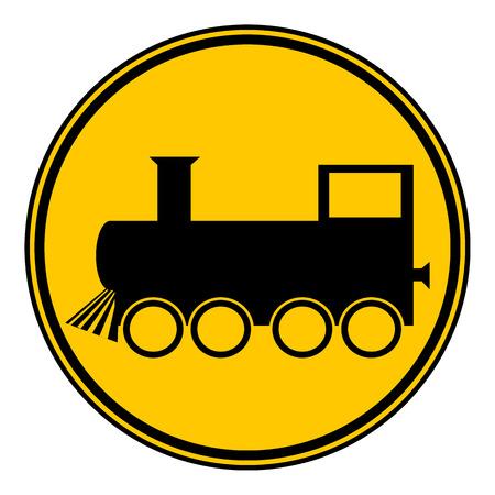 locomotive: Locomotive button on white background. Vector illustration. Illustration