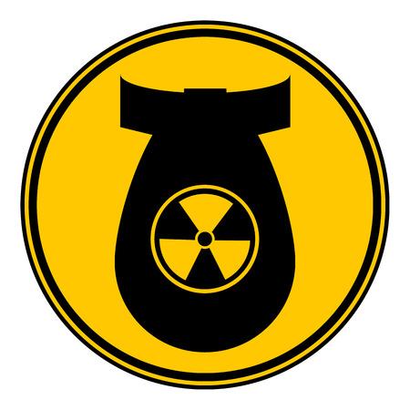 Bomb button on white background. Vector illustration. Illustration