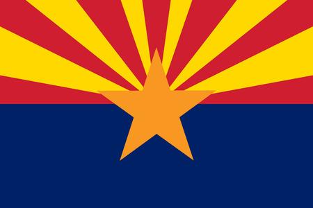 Flag of Arizona - vector illustration.