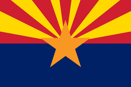 Vlag van Arizona - vector illustratie.