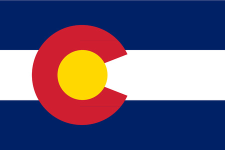 colorado flag: Flag of Colorado - vector illustration.
