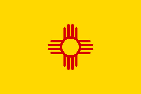 new mexico: Flag of New Mexico - vector illustration.
