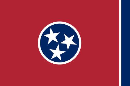 tennesse: Bandera de Tennessee - ilustraci�n vectorial.