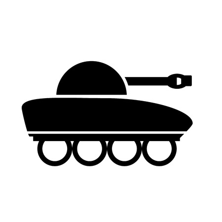 turret: Panzer icon on white background. Vector illustration.