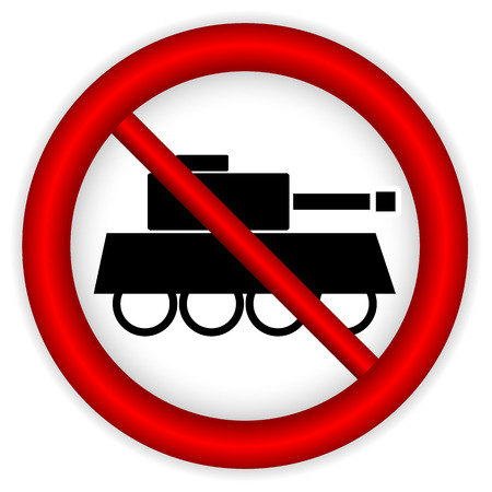 turret: No war sign on white background. Vector illustration. Illustration