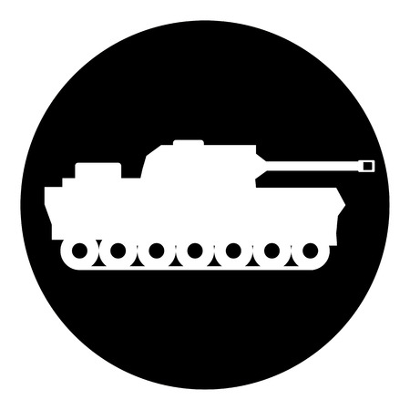 Panzer: Panzer symbol button on white background. Vector illustration. Illustration