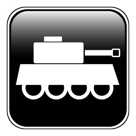 turret: Panzer symbol button on white background