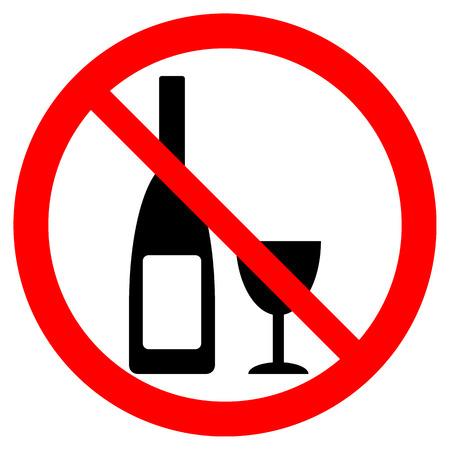 glasse: Bottle and glasse icon on white background.