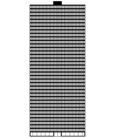 Skyscraper icon on white background - vector illustration.
