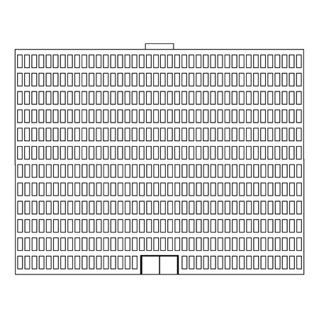 흰색 배경에 건물 아이콘 - 벡터 일러스트 레이 션입니다.