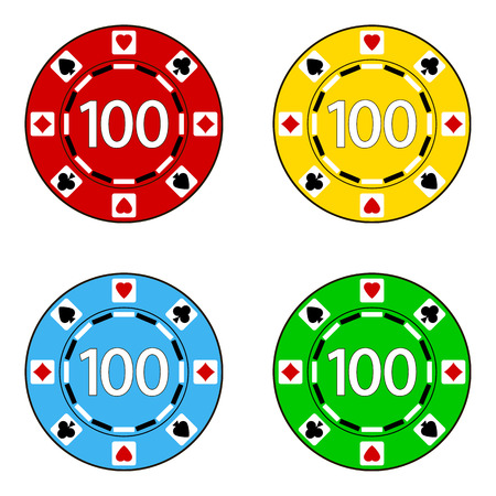 token: Set of Casino chips isolated on white background.  Vector illustration.