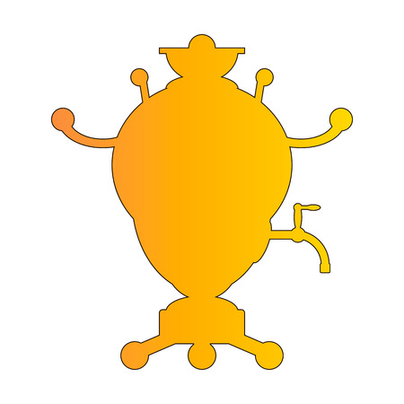 samovar: Samovar icon isolated on white background. Vector illustration.