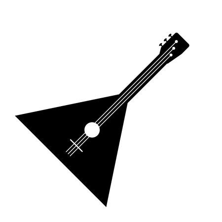 solo: Balalaika icon isolated on white background. Vector illustration.