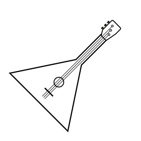 balalaika: Balalaika icon isolated on white background. Vector illustration.