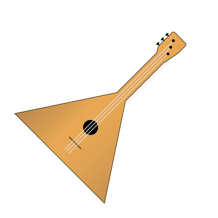 balalaika: Balalaika icon isolated on white background. Vector illustration.