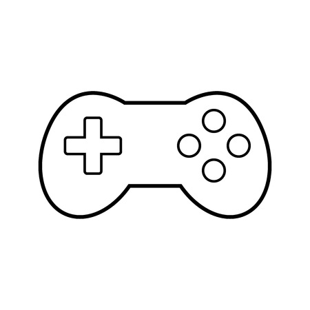 videogame: Video game icon isolated on white background. Vector illustration.