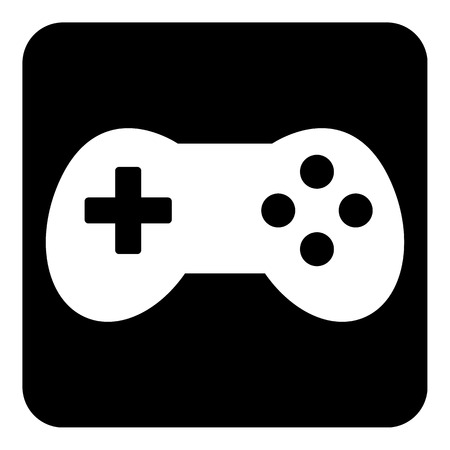 video game: Video game icon isolated on white background. Vector illustration.