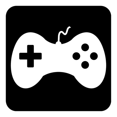 portable console: Video game icon isolated on white background. Vector illustration.