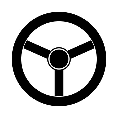 steering wheel: Steering wheel icon isolated on white background. Vector illustration. Illustration