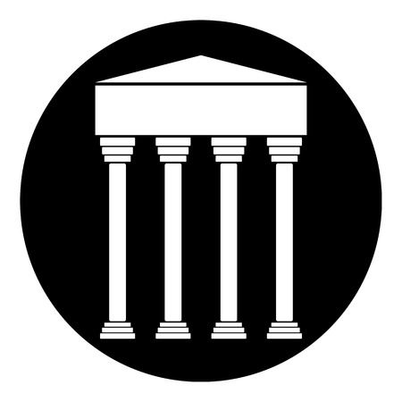 classicism: Bank icon on white background - vector illustration. Illustration