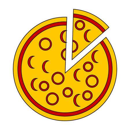 chunk: Pizza icon on white background - vector illustration.
