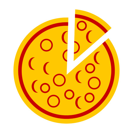 vegetable fat: Pizza icon on white background - vector illustration.