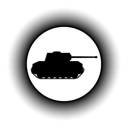 ww2: Panzer button on white background. Vector illustration. Illustration