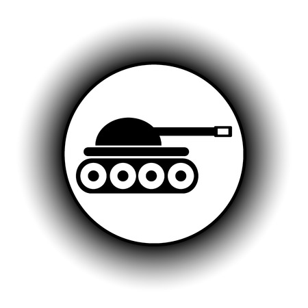 ww2: Panzer button on white background.