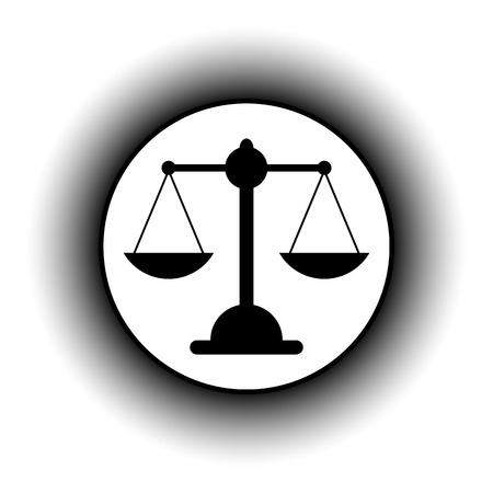 acquittal: Scale button on white background.