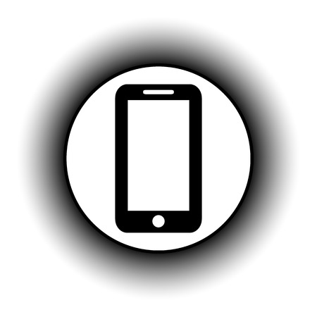 phone button: Phone button on white background.