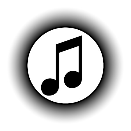 compose: Music button on white background.