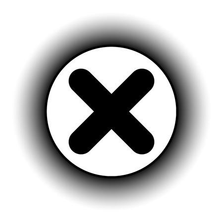 delete button: Delete button on white background. Vector illustration. Illustration