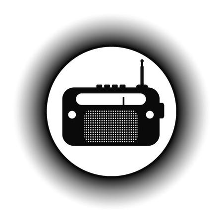 radio button: Radio button on white background. Vector illustration.