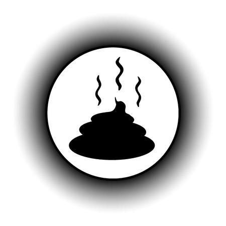 muck: Shit button on white background. Vector illustration. Illustration