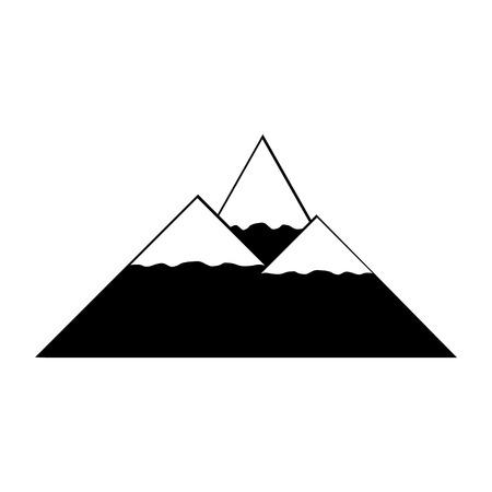 winter range: Mountains icon on white background. Vector illustration.