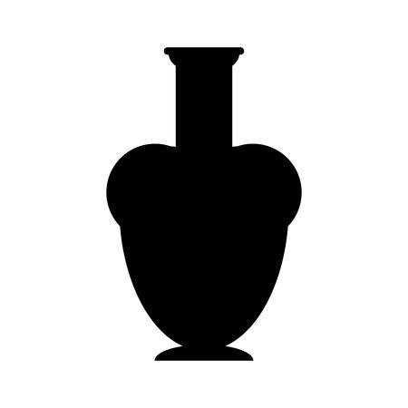 vasi greci: Antico vaso su sfondo bianco. Illustrazione vettoriale. Vettoriali