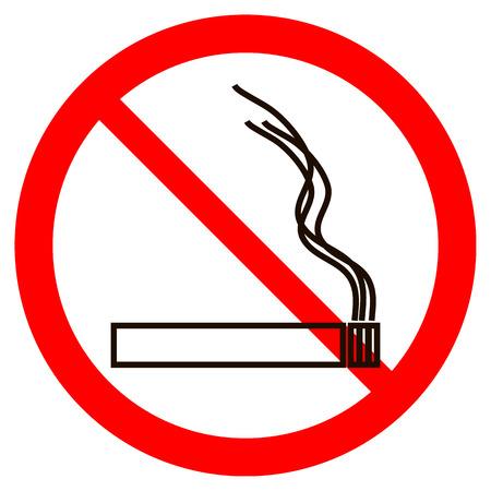 nicotine: No smoking sign on white background. Vector illustration.