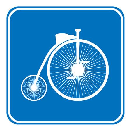allowed: Allowed bike sign on white. Vector illustration. Illustration