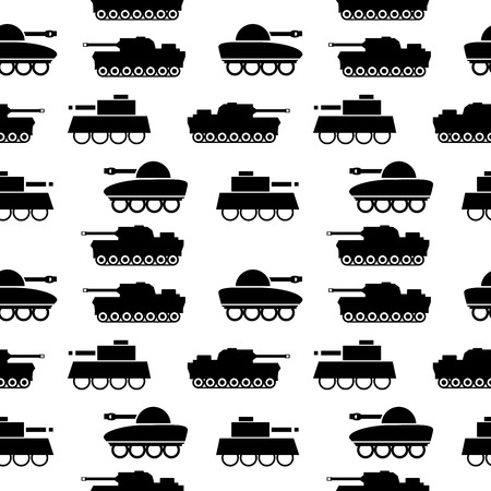 Panzer: Panzer seamless pattern on white. Vector illustration.