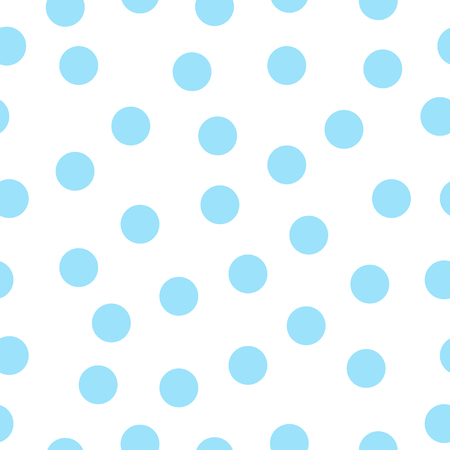 シームレス パターン ホワイト ポルカ ドット。ベクトルの図。