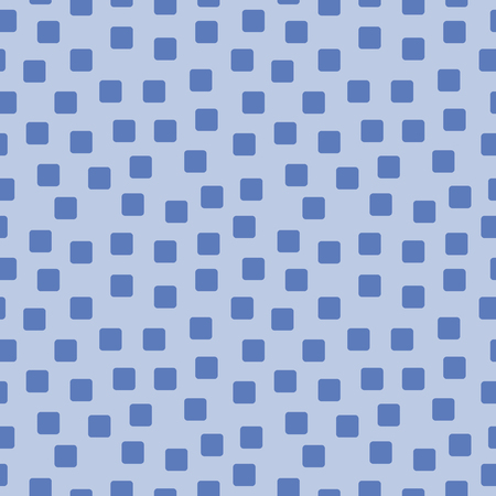 spotted: Seamless texture of the squares on blue. Vector illustration. Illustration