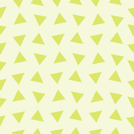 Seamless texture of the triangles on green. Vector illustration.