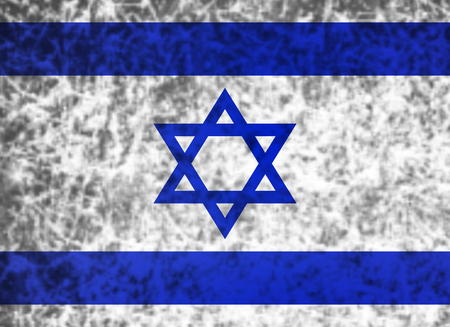 ancient near east: Flag of Israel in grunge style. Stock Photo
