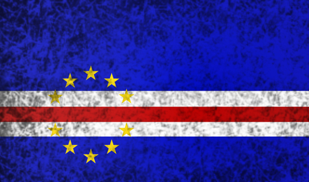 cape verde: Flag of Cape Verde in grunge style. Stock Photo