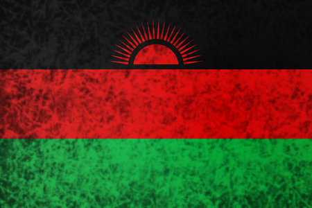malawi: Flag of Malawi in grunge style.