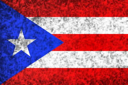 bandera de puerto rico: Bandera de Puerto Rico en el estilo grunge. Foto de archivo