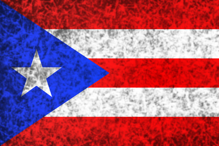 puerto rico: Flag of Puerto Rico in grunge style. Stock Photo