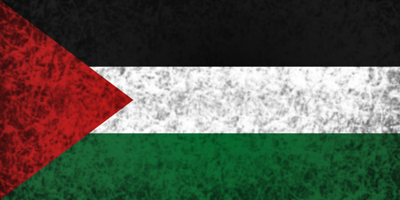 ancient near east: Flag of Palestine in grunge style.