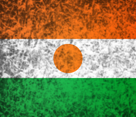 niger: Flag of Niger in grunge style.