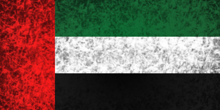 ancient near east: Flag of United Arab Emirates in grunge style.